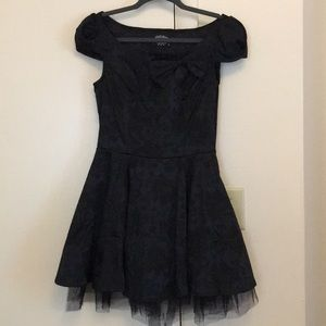 Gothic lolita-esque black dress